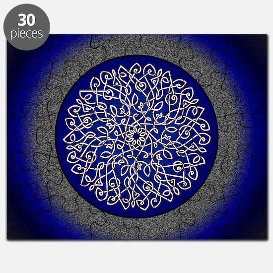 Blue Celtic Art Burst Puzzle