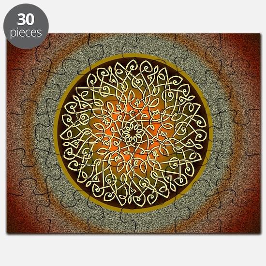 Autumn Celtic Art Burst Puzzle