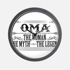 Oma The Legend... Wall Clock