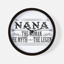 Nana The Legend... Wall Clock