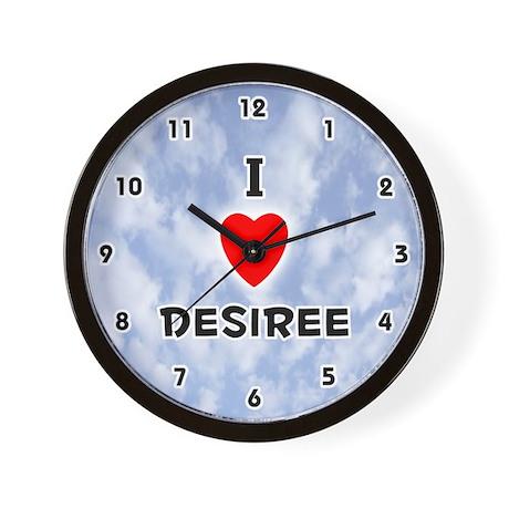 I Love Desiree (Black) Valentine Wall Clock