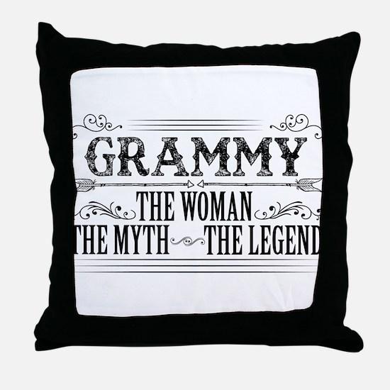 Grammy The Legend... Throw Pillow