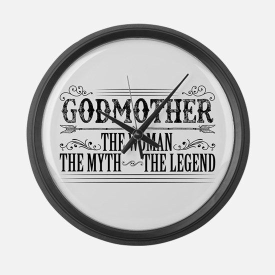 Godmother The Legend... Large Wall Clock