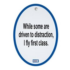Driven to Distraction Oval Ornament