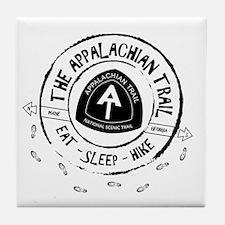 Appalachian Trail Eat-sleep-hike Tile Coaster