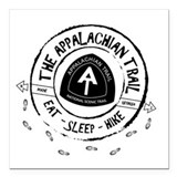 Appalachian trail Square Car Magnets