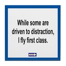 Driven to Distraction Tile Coaster