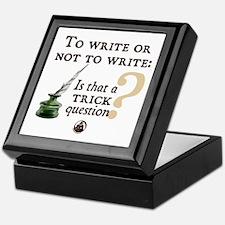 To Write or Not to Write Keepsake Box