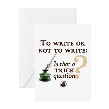 To Write or Not to Write Greeting Card