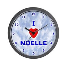 I Love Noelle (Blue) Valentine Wall Clock