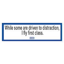 Driven to Distraction Bumper Bumper Sticker