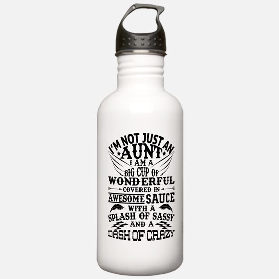 I AM NOT JUST AN AUNT! Sports Water Bottle