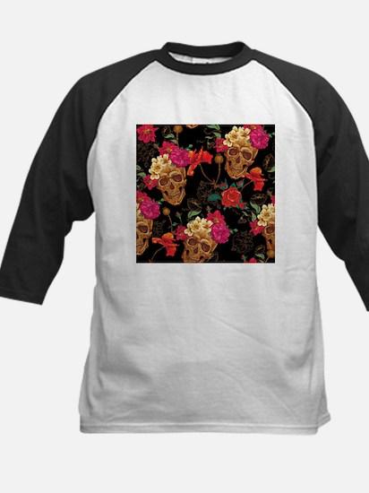 floral Skulls Baseball Jersey