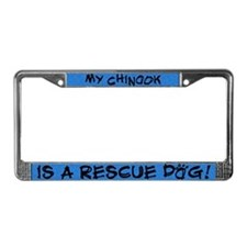 Rescue Dog Chinook License Plate Frame