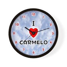 I Love Carmelo (Red/Blk) Valentine Wall Clock