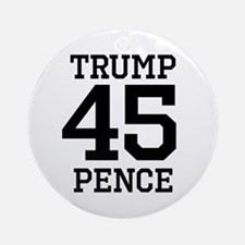 Trump Pence 45 Round Ornament