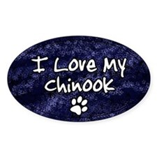 Funky Love Chinook Oval Decal