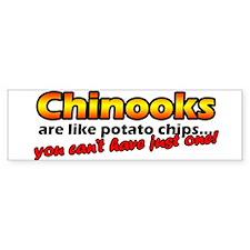 Potato Chips Chinook Bumper Car Sticker