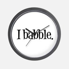 I Babble Wall Clock