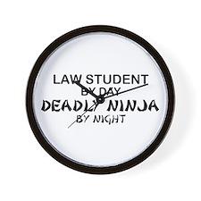 Law Student Deadly Ninja Wall Clock