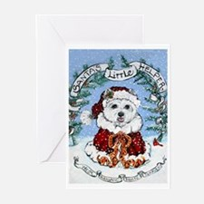 Westie Santa Claus Greeting Cards