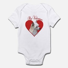 Crested(powder) Valentine Infant Bodysuit