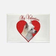 Crested(powder) Valentine Rectangle Magnet (10 pac