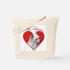 Crested(powder) Valentine Tote Bag