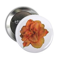 """Coral Double Daylily 2.25"""" Button (100 pack)"""