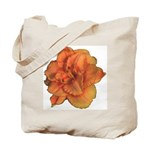 Coral Double Daylily Tote Bag