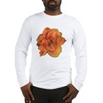 Coral Double Daylily Long Sleeve T-Shirt