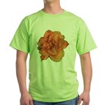 Coral Double Daylily Green T-Shirt
