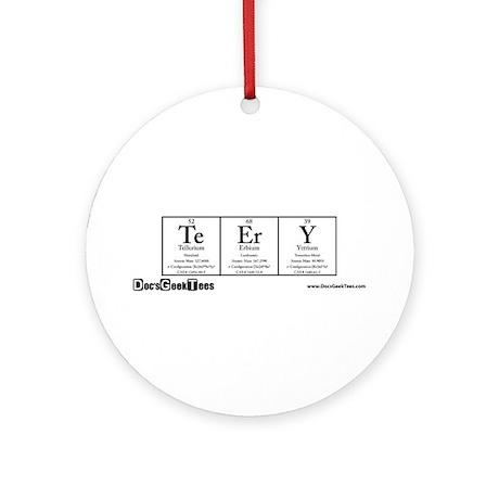 Te Er Ry Transparent Ornament (Round)