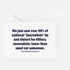 Most Journalists Lied for Hillary Greeting Card