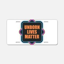 Unborn Lives Matter Aluminum License Plate