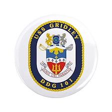 """DDG 101 USS Gridley 3.5"""" Button"""