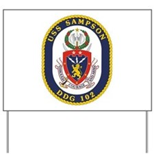 USS Sampson DDG 102 Yard Sign