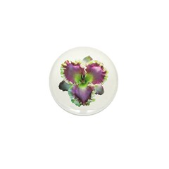 Lavender w/ Gold Daylily Mini Button (10 pack)