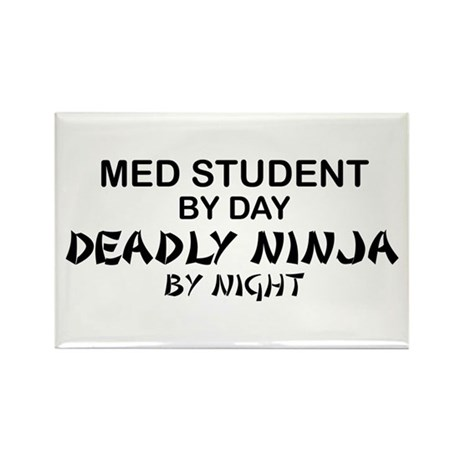 Med Student Deadly Ninja Rectangle Magnet
