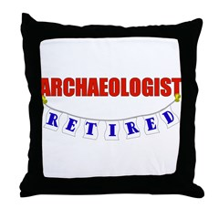 Retired Archaelogist Throw Pillow