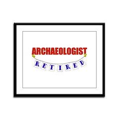 Retired Archaelogist Framed Panel Print