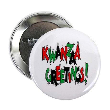 "Kwanzaa Greetings 2.25"" Button (100 pack)"