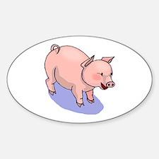 """""""Cute Piggy"""" Oval Decal"""