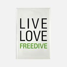 Live Love Freedive Rectangle Magnet