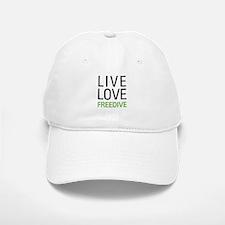 Live Love Freedive Baseball Baseball Cap