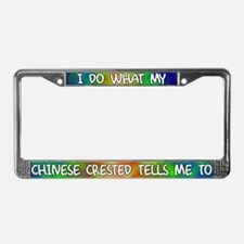 Do what Chinese Crested License Plate Frame