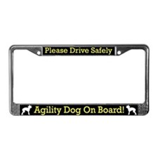 Chinese Crested Agility Dog License Plate Frame