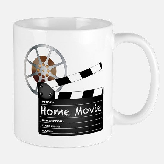 Home Movie Clapperboard and Reel Mugs