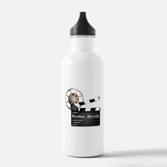 Home Movie Clapperboar Water Bottle