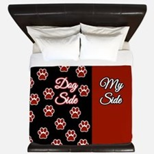 Dog Side My Side With Paws King Duvet